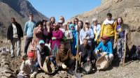 Students on trek in Morocco's High Atlas mountains