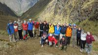 Students high up on the Inca Trail |  <i>Eva Moon</i>