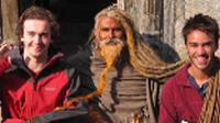 Students making friends with a Sadhu in Kathmandu, Nepal |  <i>Greg Pike</i>
