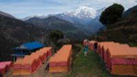 Stay at our exclusive private eco campsite at Landruk in the Annapurna region |  <i>Mark Tipple</i>