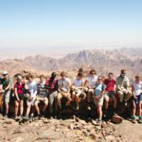 A group of young trekkers in the Sinai, Egypt | Neill Prothero