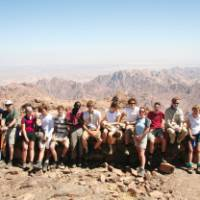 A group of young trekkers in the Sinai, Egypt   Neill Prothero