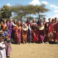 Traditional dress on the community project tour, Kenya   Ian Williams