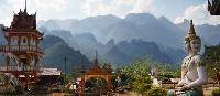 Temple with a view in Vang Vieng, Laos