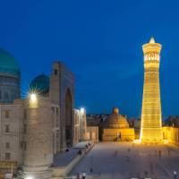 Kalon Minaret at dusk in Bukhara, a Silk Road highlight | Richard I'Anson