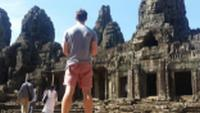 Student appreciating the ruins of Angkor Wat in Cambodia |  <i>Zach White</i>