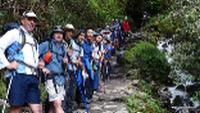 School group on trek in the Peruvian Andes |  <i>Drew Collins</i>