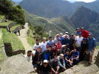 School group at Machu Picchu in Peru |  <i>Drew Collins</i>