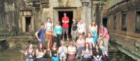 Group shot time at Angkor Wat