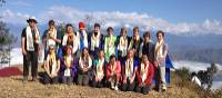 Group shot at the project site in the Annapurna region