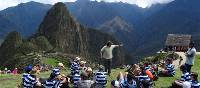 Students at Machu Picchu during their school trip in Peru | Drew Collins