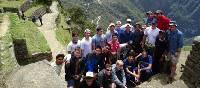 School group at Machu Picchu in Peru | Drew Collins