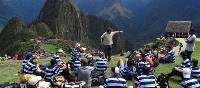 Students at Machu Picchu, Peru | Drew Collins