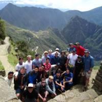School group at Machu Picchu in Peru   Drew Collins