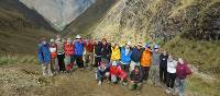 Students high up on the Inca Trail | Eva Moon