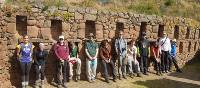Students taking a break to explore the ruins along the Inca Trail | Eva Moon