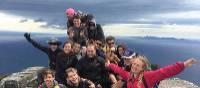 School group on top of Bishop & Clerk on Maria Island | Holly Van De Beek
