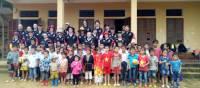 Students and local children in remote school in Vietnam