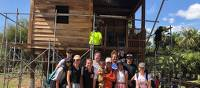Students part way through house build