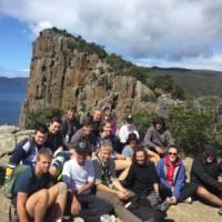 Students taking a break from their trek in Tasmania   Holly Van De Beek