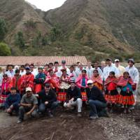 Students after the Huilloq greenhouse project in Peru   Drew Collins