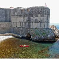 Taking off from Dubrovnik for a sea kayaking experience   P. Gonzales