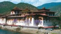 The Punakha Dzong in Western Bhutan is the winter residence of the Central Monk body and a highlight on our Himalayan Kingdoms Explorer. |  <i>Julie Anderson</i>