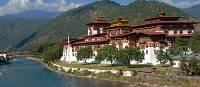 Stunning views across to Punakha Dzong | Edwina Parsons