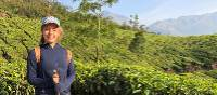 Teenager in the tea plantations above Munnar | Kate Baker