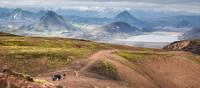 Stunning rhyolite mountains surround on the Landmannalaugar Trek