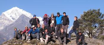 Group of students in the Everest region of Nepal | Greg Pike