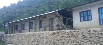 Earthquake damaged school building at Shree Setibhume Secondary School, Ramche | Highland